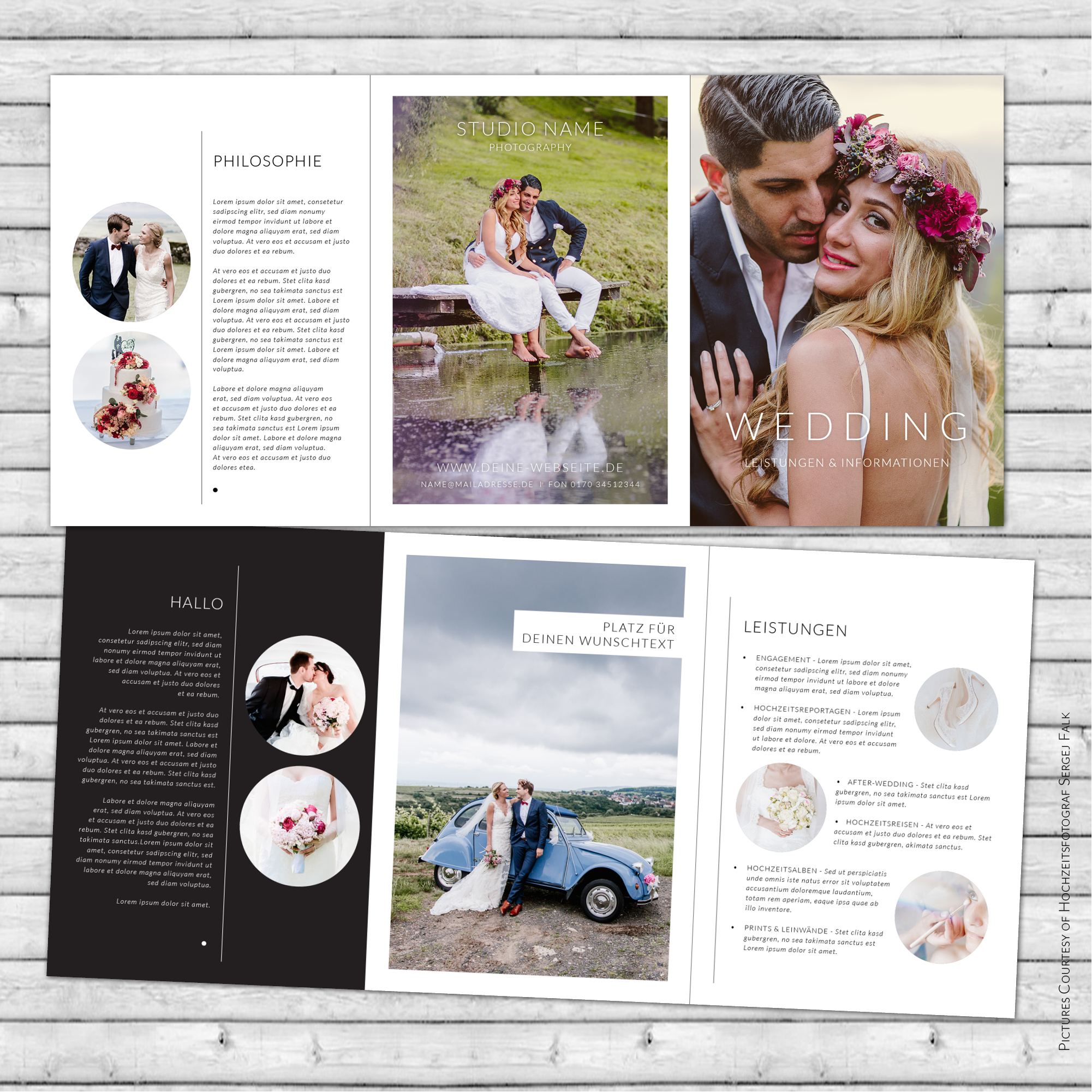Digitales Flyer Template für InDesign   DIN A5   6 Seiten   F01