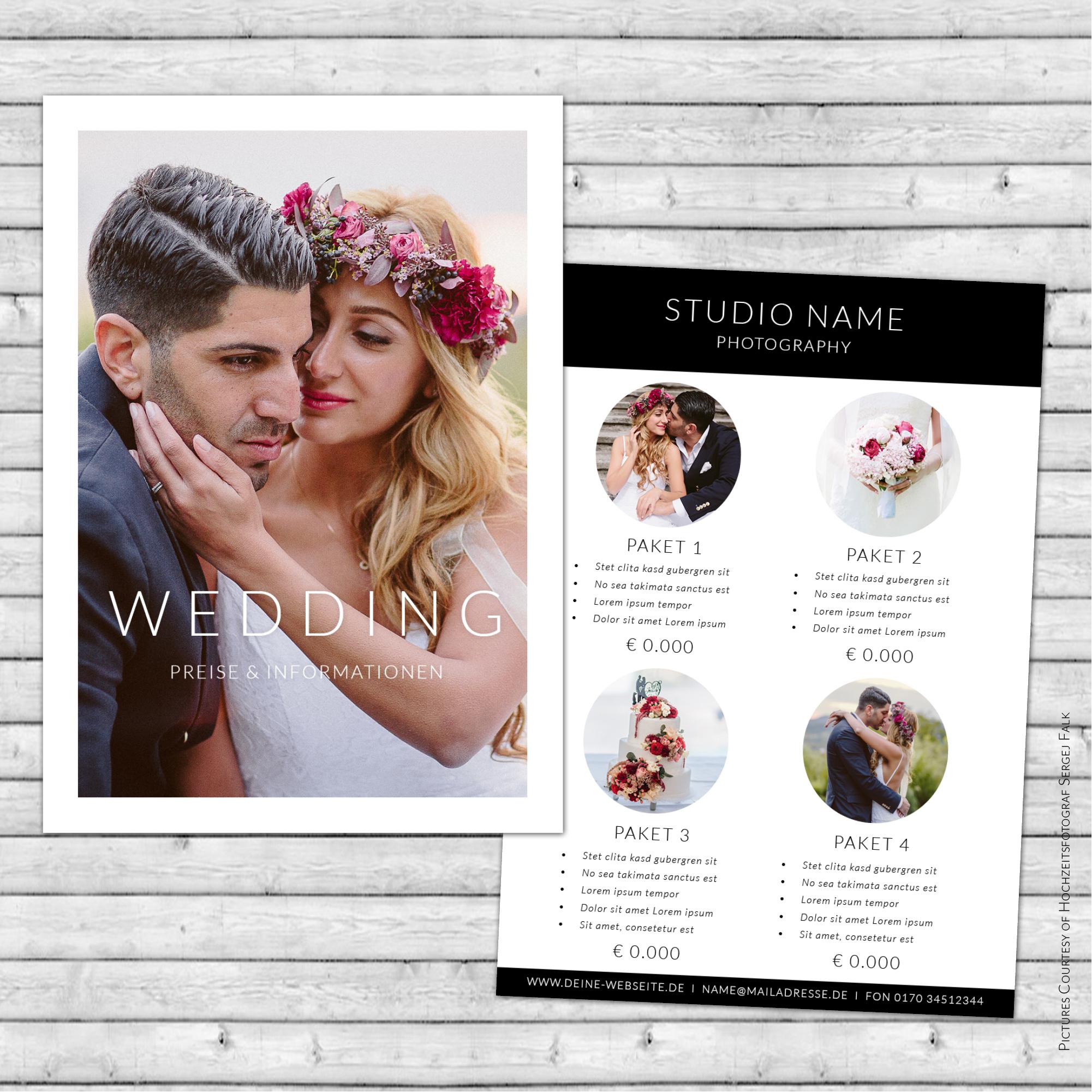 Digitales Flyer Template für InDesign   DIN A 5   2 Seiten   F01